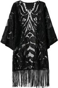 With Tassel Hollow Lace Kimono