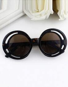 Multicolor Wrap Acetate Frame Sunglasses