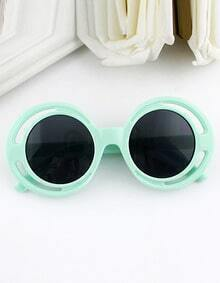 Multicolor Wrap Acetate Frame Sunglasses