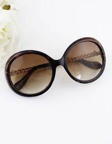 Gold Color Alloy and Resin Resin Women Sunglasses