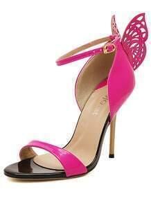 Red High Heel Butterfly Sandals