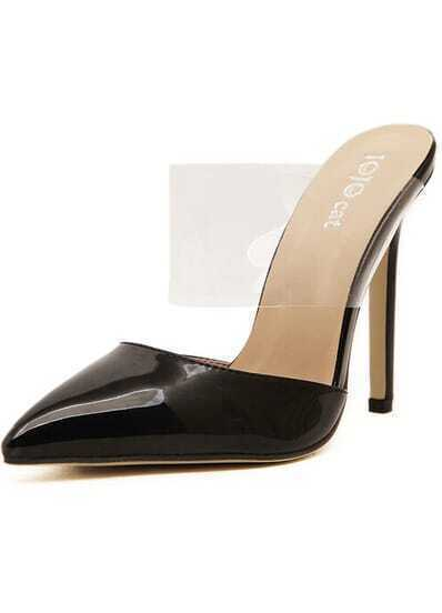 Black High Heel Point Toe Pumps