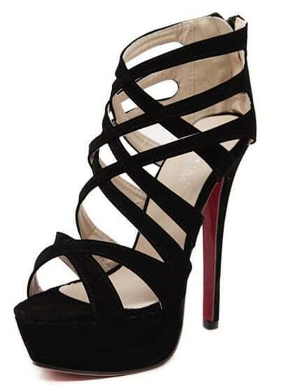 Sandali con tacco alto neri