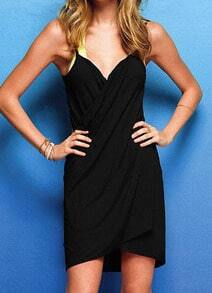 Black Spaghetti Strap Backless Beach Dress