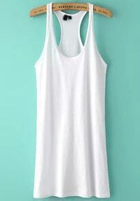 White Strap Slim Tank Dress
