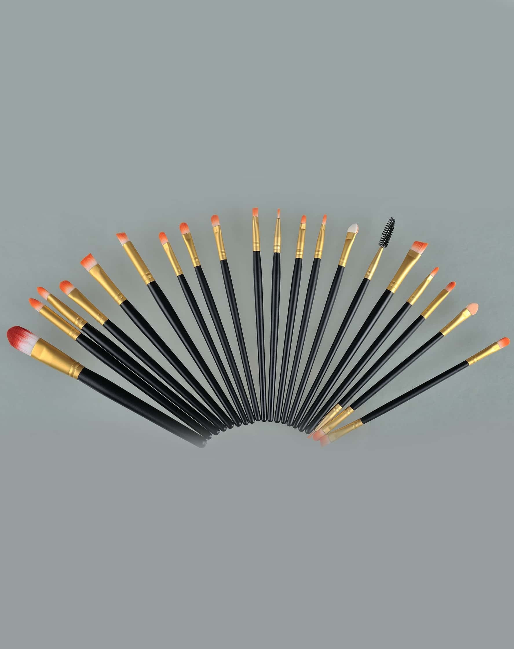 20pcs Makeup Brushes Set Metal Make Up Brush Set-Black