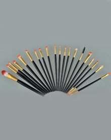 20pcs Makeup Brushes Set Metal Make Up Brush Set-Black