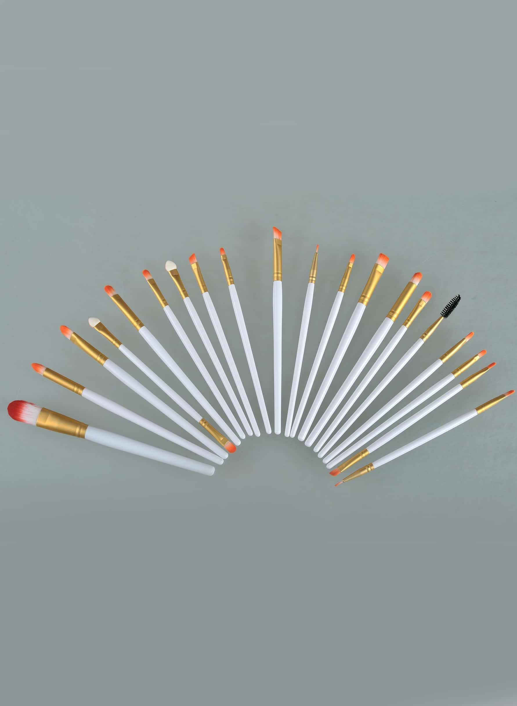 20pcs Makeup Brushes Set Metal Make Up Brush Set-White