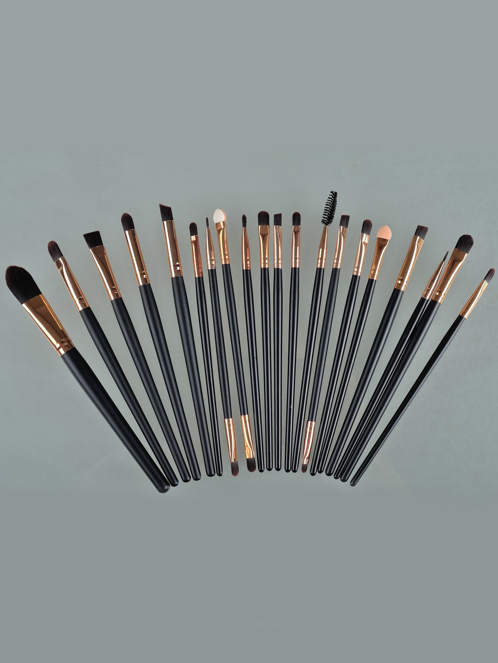 Image of 20pcs Professional Makeup Brushes Set Metal Make Up Brush Set-Black