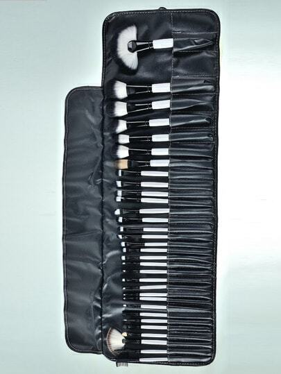 32 pinselset mit make up tasche wei german shein sheinside. Black Bedroom Furniture Sets. Home Design Ideas
