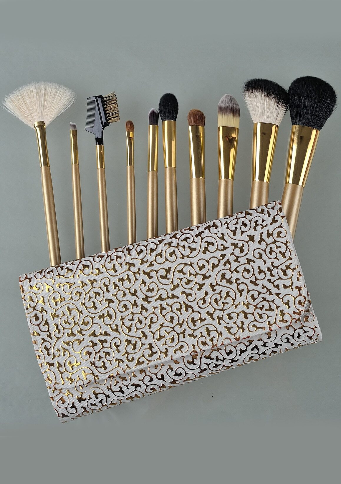 10pcs Professional Makeup Brushes Set Beauty Make Up Brush Set-Gold