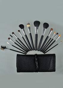 15pcs Brush For Face Make Up Tools with White Bandage Bag