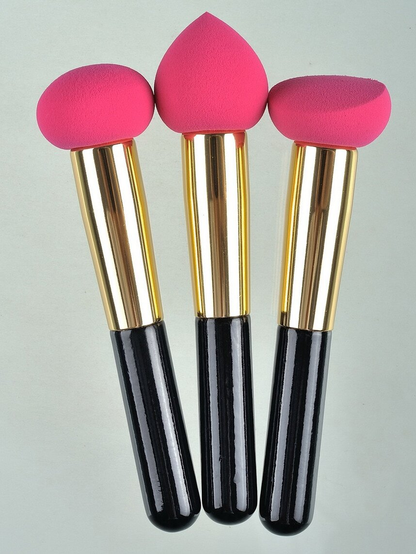 Foundation Medium Sponge Brush 3pcs/set Flawless Smooth Shaped Puff
