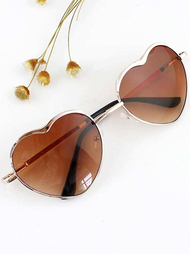 New 2015 Summer Fashion Gold Silver Alloy Heart Shape Acetate Frame Wrap Sunglasses chic heart shape alloy frame ombre sunglasses for women