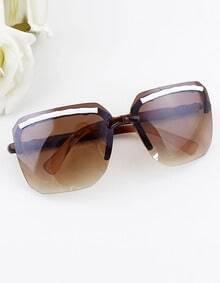 Black Brown Leopard Frame Square Resin Lens Sunglasses