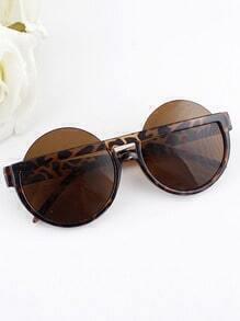 2015 Fashion Round Resin Lens Plastic Frame Women Sunglasses