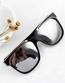New Arrival Black Plastic Frame Resin Lens Sun Glasses for Women