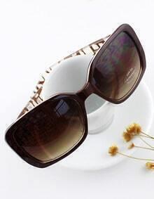 Summer New Design Brown Color Leopard Frame Big Resin Lens Sun Glasses for Women