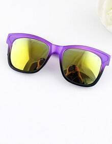 Fashion Designer Purple Frames Resin Plastic Sunglass
