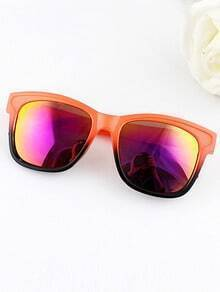 Fashion Designer Orange  Frames Resin Plastic Sunglasses