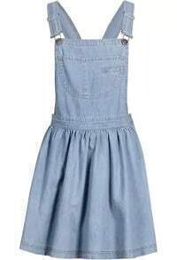 Straps With Pocket Denim Dress