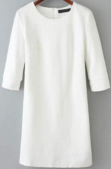 Round Neck Slim Dress