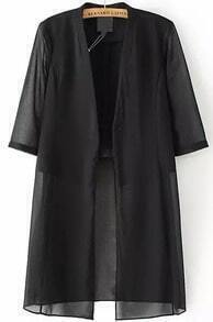 Half Sleeve Double Layels Chiffon Coat