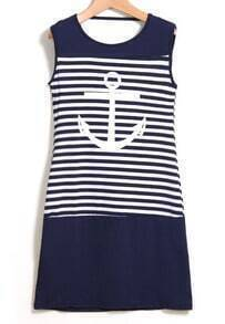 Striped Flecked Strap Back Bodycon Dress
