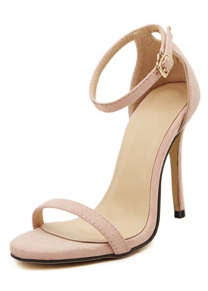 sandales talon bride nude french shein sheinside. Black Bedroom Furniture Sets. Home Design Ideas