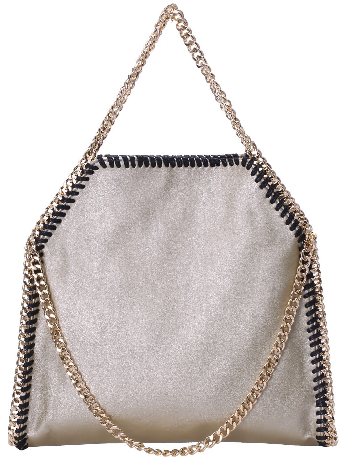 Gold Chain PU Shoulder Bag -SheIn(Sheinside)