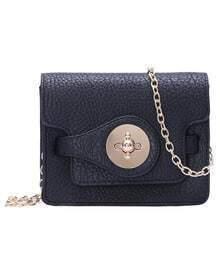 Black Magnetic Chain PU Shoulder Bag