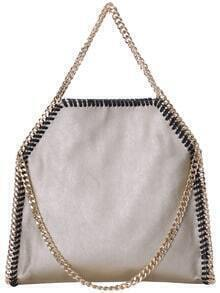 Gold Chain PU Shoulder Bag