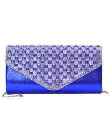 Blue With Diamond Magnetic Shoulder Bag