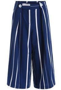 Blue Vertical Stripe Wide Leg Pant
