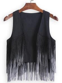 With Tassel Ombre Tank Top