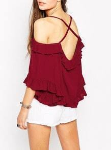 Off The Shoulder Butterfly Sleeve Top