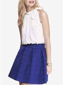 White Sleeveless With Bow Top