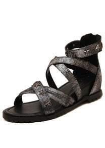 Silver Stars Rivet PU Sandals