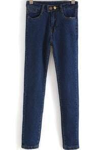 Blue Slim Pockets Denim Pant