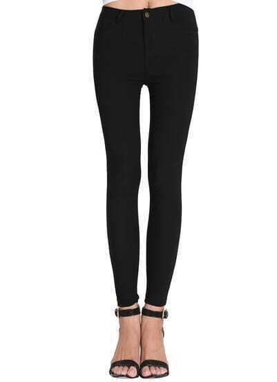 Black Skinny Pockets Pant