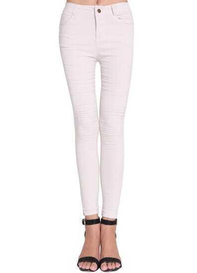 White Skinny Pockets Pant