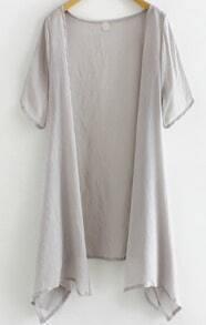Short Sleeve Grey Top
