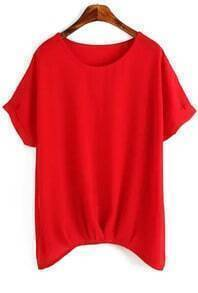 Short Sleeve Red Top