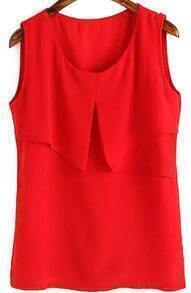 Ruffle Red Tank Top