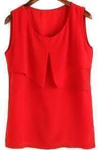 Ruffle Red Tank Top