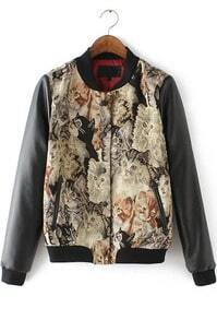 With Buttons Cat Print Jacket