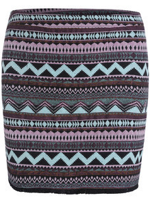 Black Geometric Print Bodycon Skirt