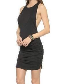 Black Halter Slim Bodycon Dress
