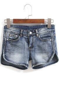 Split With Pockets Denim Shorts