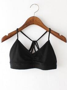 Ruched Detail Strappy Back Bralette
